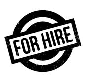 For Hire rubber stamp. Grunge design with dust scratches. Effects can be easily removed for a clean, crisp look. Color is easily changed Stock Images