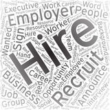 Hire,Word cloud art background royalty free illustration