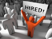 Hired! Royalty Free Stock Photos