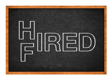 Hired or fired concept Royalty Free Stock Photography