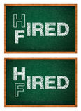 Hired or fired concept Royalty Free Stock Image