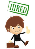 Hired for a job Stock Image