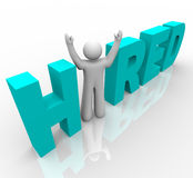 Hired - Man in Word Royalty Free Stock Images