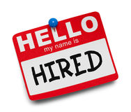 Hired Name Tag royalty free stock photography