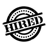 Hired rubber stamp Royalty Free Stock Photo