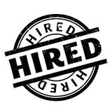 Hired rubber stamp Royalty Free Stock Image