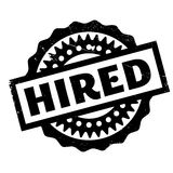 Hired rubber stamp Royalty Free Stock Photos