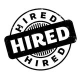 Hired rubber stamp Stock Image
