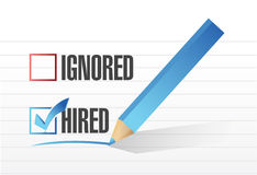 Hired selected illustration design Stock Photo