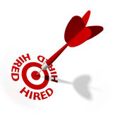 Hired Target Royalty Free Stock Photos