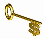 Hires_dollar_key Royalty Free Stock Images