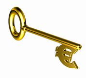Hires_euro_key Royalty Free Stock Photos