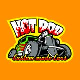 Hot Rod, Custom made cars. T-Shirt print template. HiRes, Vector EPS10 file. 100% Layered and editable. Good for all sizes Stock Photos
