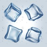 Ice cubes set royalty free illustration