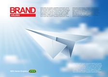 Origami Paper airplane. HiRes, Vector EPS10 file. 100% Layered and editable. Good for all sizes Stock Image