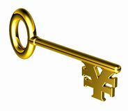 Hires_yen_key Royalty Free Stock Photos