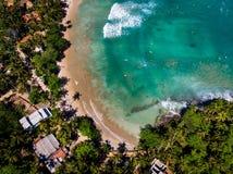 Free Hiriketiya Beach In Sri Lanka Aerial View Royalty Free Stock Image - 144183566
