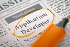 We are Hiring Application Developer. 3D. Royalty Free Stock Images