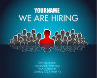 We Are Hiring background for your hiring posters and flyer. Stock Image