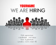 We Are Hiring background for your hiring posters and flyer. Royalty Free Stock Photography