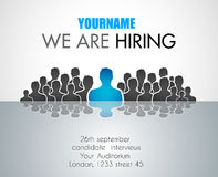 We Are Hiring background for your hiring posters and flyer Stock Images