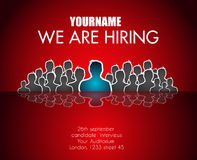 We Are Hiring background for your hiring posters and flyer Stock Photos