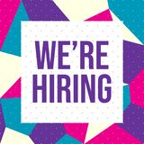 We are Hiring Banner - Vector royalty free illustration