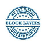 We are hiring Block Layers - stamp / label Stock Photography