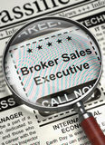 We are Hiring Broker Sales Executive. 3D. Royalty Free Stock Photo