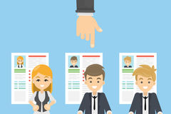 Hiring the candidate. Stock Images