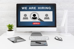 We Are Hiring Career Headhunting Job Concept Stock Image