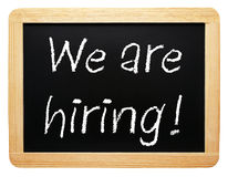 We are hiring chalkboard sign Stock Photography
