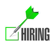 Hiring check dart illustration design Royalty Free Stock Photography
