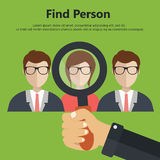 Hiring concept. Find person for job opportunity. Flat illustration vector illustration
