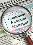 We are Hiring Customer Account Manager. 3D. Stock Photos