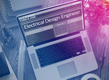 We Hiring Electrical Design Engineer. 3D. Stock Photography