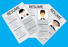 Hiring, employee selection. Rrecruitment and job, now hiring and job interview, vector illustration Stock Image