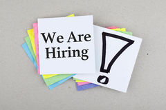 We Are Hiring Royalty Free Stock Image
