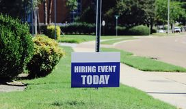 Hiring Event Today Royalty Free Stock Photo