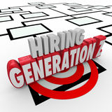 Hiring Generation Z Young People Employees Workers Org Chart Royalty Free Stock Photo