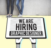 Hiring Graphic Designer Creative Sketch Visual Concept Stock Photography