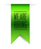 We are hiring hanging banner illustration design Stock Photo