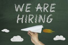 We are hiring. Human Resource Management and Recruitment and Hiring concept royalty free stock image