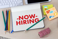 WE ARE HIRING Human Resources Interview professionals working fine Recruitment Job stock image
