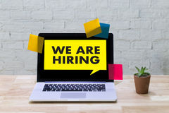 WE ARE HIRING Human Resources Interview professionals working fine Recruitment Job royalty free stock images