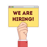 We are hiring internet web site page post Royalty Free Stock Photo