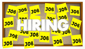 Hiring Jobs Posting Board Classified Help Wanted Find Work. Sticky Notes Stock Images