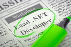 We are Hiring Lead .NET Developer. 3d. Stock Photos