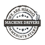 We are hiring Machine drivers - printable labled Royalty Free Stock Images