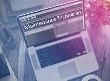 We Hiring Maintenance Technician. 3D. Royalty Free Stock Images